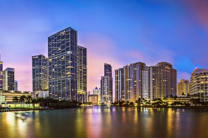 Brickell Key Skyline
